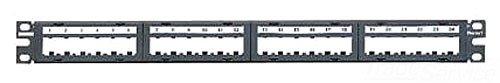 Panduit CPPL24M6BLY 24-Port Flat Patch Panel, Black