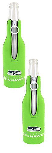 Official National Football League Fan Shop Authentic NFL 2-pack Insulated Bottle Cooler (Seattle Seahawks)