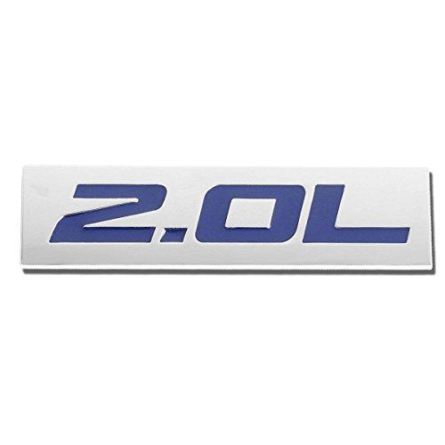Blue 2.0L 3M Tape On Metal Emblem Decal Logo Trim Badge