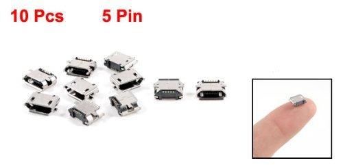 Amazon.com: eDealMax 10 x Micro USB hembra Tipo de montaje SMD PCB Jack tono de Plata: Electronics
