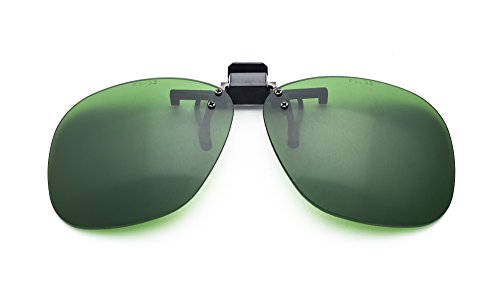 BoroView Shade #3 - Glass Working Spectacles in Plastic Clip on Flip up - Plastic Polycarbonate Vs