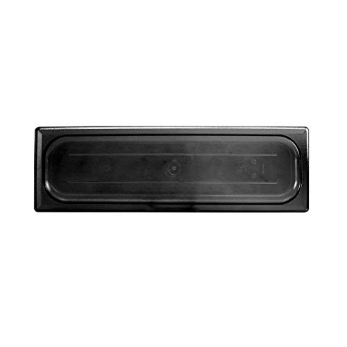 Polycarbonate Solid Food Pan Covers - Half size long solid cover for polycarbonate food pan, black, Comes in 12/ Pack
