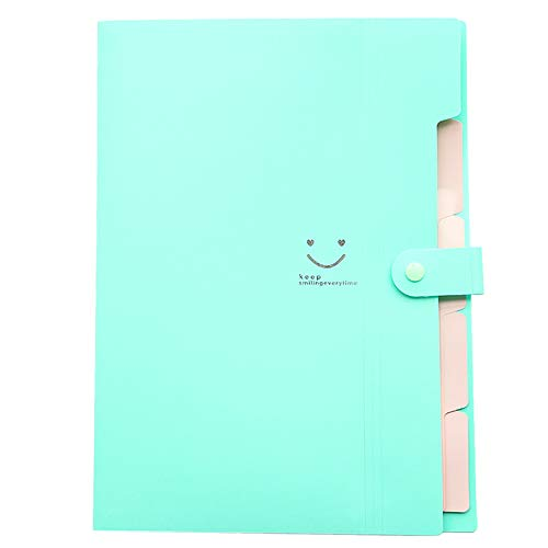 - SUJING Expanding File Folder Letter A4 Paper Pockets Accordion File Folder Organizer 5 Pockets (H)