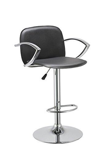 Adjustable Backrest (Bar Stool with Backrest Armrest Duhome WY-406 Hydraulic Adjustable Bar chair (Black))