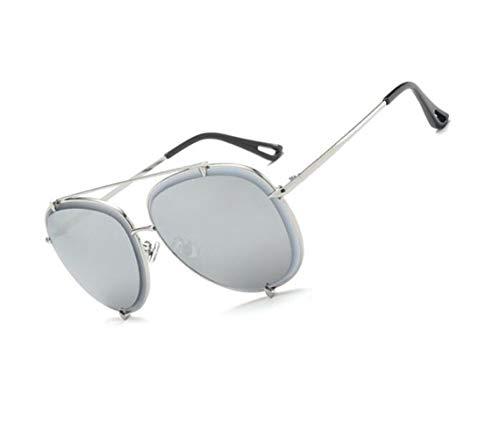para del metal de mujeres de protección la mujeres del hombres aire para protectoras viajar sol sol UV400 de gafas las de de las marco los Gafas de Silver las de al libre cRH8q041x