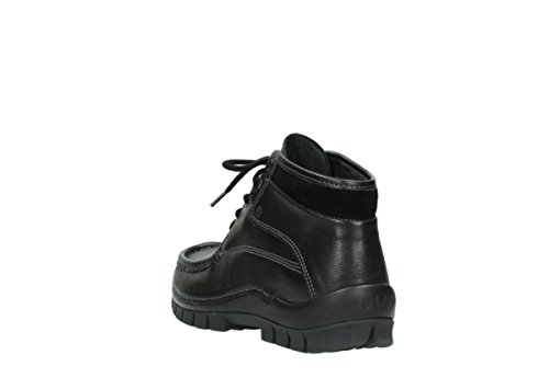 Comfort Wolky Winter Leather Cross Lacets Black Chaussures 30000 À gOOqp1a