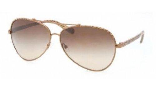 Tory Burch Sunglasses - TY6021 / Frame: Brown Python Lens: Brown - Sunglasses Tory Burch Plastic Aviator