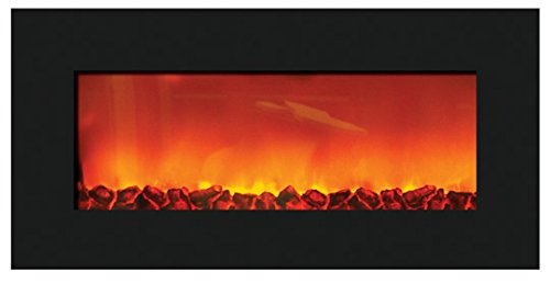 Sierra Flame Slim Wall Mount Electric Fireplace with 36