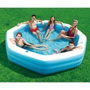 Summer Escapes 10 Foot Octagonal Inflatable Family Swimming Pool Toys Games