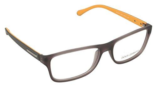 Dolce & Gabbana Montures de lunettes 5009 Over Molded Rubber Pour Homme Black Rubber, 54mm 2813: Semi-Transparent Grey Rubber
