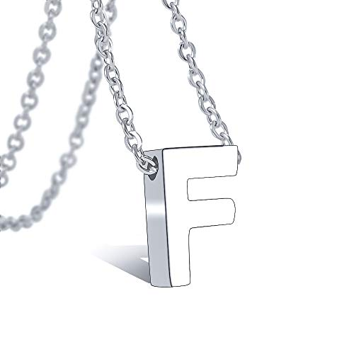 Bala Initial Letter Necklace 316 Stainless Steel for Women Wedding Initial F