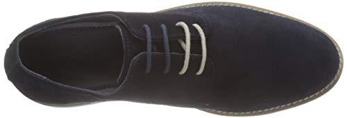 Derby Para Eldan Azul De Cordones marine Zapatos 10 Hombre Kickers dpOqIO