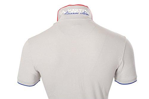 La Martina Polo Poloshirt Herren Hellgrau Rot Slim Fit Baumwolle Casual 3XL