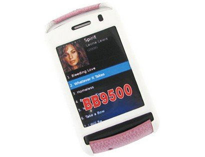Snap On Rubberized Plastic Phone Protector White and Hot Pink Case For BlackBerry Storm 9530 9500 -