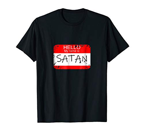 Hello My name is Satan Funny Halloween Devil costume Tshirt ()