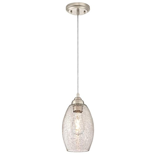 Crackle Glass Pendant Light
