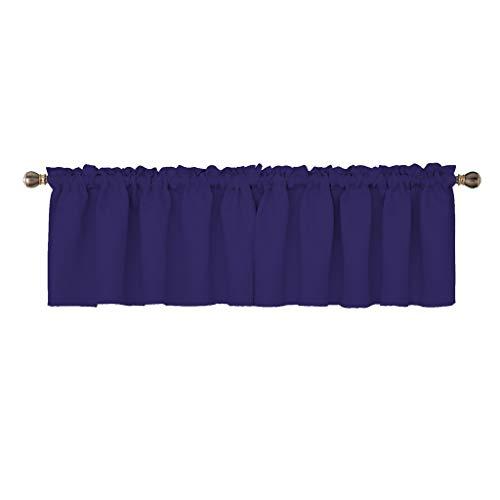 Gathered Blue (Crisp Bedding Store Decorative Polyester Window Valances Solid Royal Blue Gathered Style (54