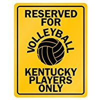 Reserved for volleyball Kentucky - Usa States - Parking Sign [ Decorative Novelty Sign Wall Plaque ]