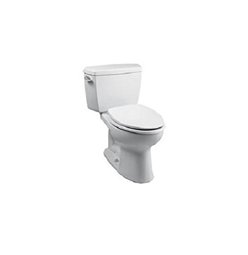 TOTO CST744SL#01 Drake 2-Piece Ada Toilet with Elongated Bowl, Cotton White (Ada Compliant Elongated Bowl)