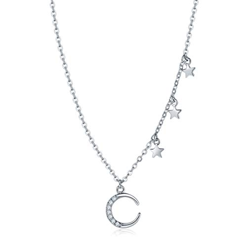(MILATU Moon Star Pendant Choker Necklaces for Women Jewelry for Girls Gift for Mother's Day)