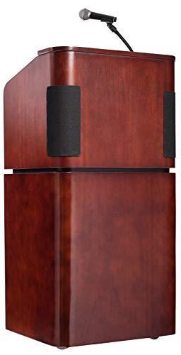 - Oklahoma Sound 950/901-MY/WT Veneer Sound Lectern with Base, Mahogany/Walnut