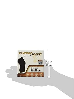 CopperJoint Copper Knee Brace, #1 Compression Fit Support - GUARANTEED Recovery Sleeve - Wear Anywhere - Single