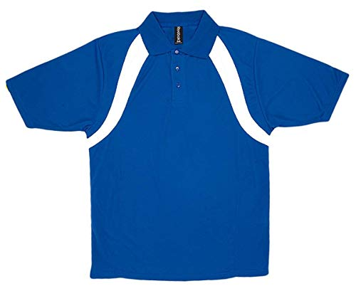 Mens Reebok Royal Match - Reebok Men's Playdry Athletic Performance Polo Shirt, Royal/White, XXX-Large