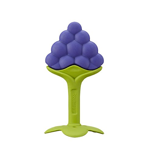 Innobaby Original Teethin Smart EZ Grip Fruit Teether and Sensory Toy for Babies and Toddlers in Grape. BPA Free Teether