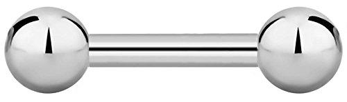 16g 6mm Internally Threaded Titanium Straight Barbell Body Piercing Jewelry, 3mm - 6mm Barbell Straight Balls