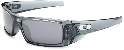 Oakley Mens GasCan SunglassesCrystal Black FrameBlack Iridium LensOne Size