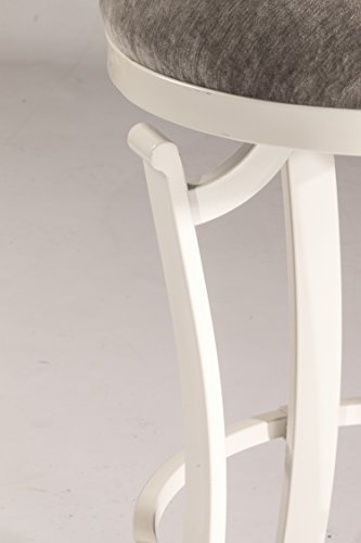 Hillsdale 4488-831 Kelford Backless Swivel Stool White, Bar, White Gray
