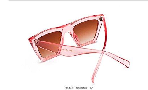 de sol Gafas sol MAIDIS manera grandes PinkC2 de personalidad de la Street New del Shoot ojo de de Gafas gato coloridas la qXS4w