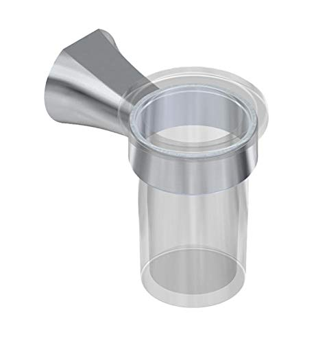 Graff G-9602-PC Finezza DUE 3 3/8'' Wall Mount Tumbler and Holder In Polished Chrome