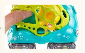 KINGSUNG Soft Rattle Car 6-12 Months Baby Puzzle 0-1-3 Hand Grasping Ball toys(color random) by KINGSUNG (Image #5)