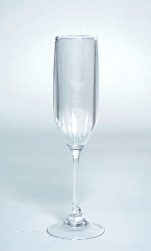 Plastic Champagne Flutes Champagne Glasses for Wedding Toasting Flutes One, 6 ounces SET OF 4