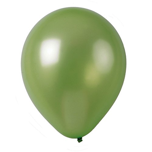 - Topenca Party Supplies, 12 Inches Solid Metallic Latex Balloons, 50 Pack, Apple Green