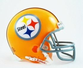 Throwback Pittsburgh Helmet Steelers (Pittsburgh Steelers 1962 Throwback Replica Mini Helmet w/ Z2B Face Mask)