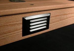 - Aurora Pyxis Recessed Step Riser Light, 6W LED, Black