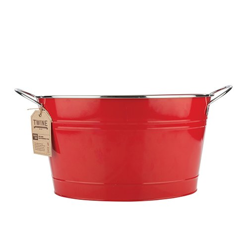 Twine Country Home Large Red Galvanized Metal Tub and Drink Bucket by by Twine (Image #2)