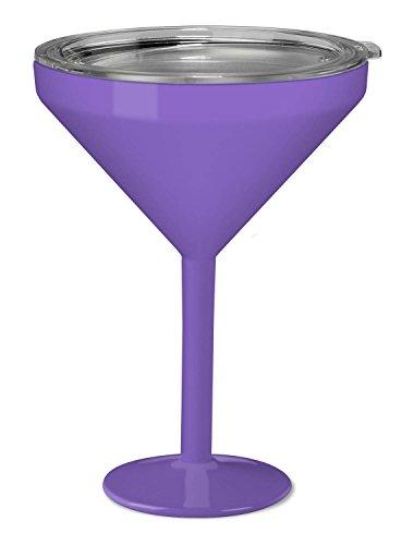 True North Insulated Martini Glass (Beach (Lavender Glass)