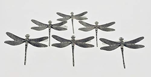 - Decozen Set of 6 Napkin Rings for Dining Table Kitchen Table Coffee Table in Dragon Fly Design Silver Finish Al Fresco Dining for Everyday Use Dinner Party and Occasional Use