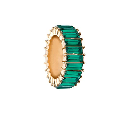 Exquisite Fit Corset - Haxikocty Women Ring Exquisite Creative Hand Studded Geometric Rainbow Stone Wedding Jewelry Gift