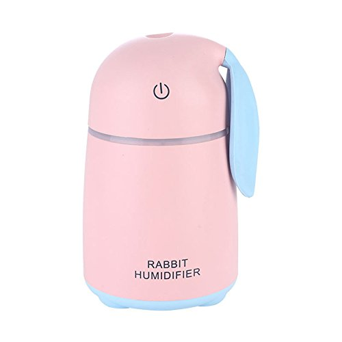 Aromatherapy Essential Oil Diffuser Cool Mist Humidifier Xxml Ultrasonic With LED Light Perfect For Home,Office,Living Room,Spa,Car,Pink by L&X