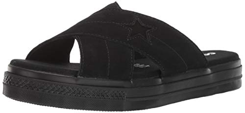 Converse Women's One Star Suede Slip Sandal Black, 8.5 M US]()