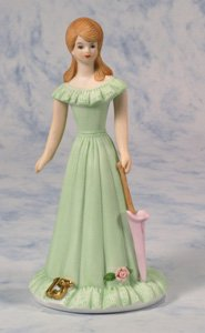 "Enesco Growing Up Girls ""Brunette Age 15"" Porcelain Figurine, 7"""