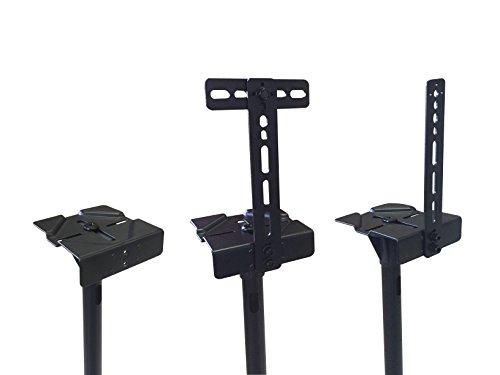 VideoSecu One Pair Height Adjustable Mounts Heavy Stands Surround Satellite Small Bookshelf DA8