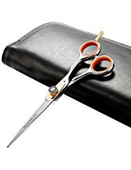 (Japanese Professional Hair Cutting Shears,Barber Razor Edge Hair Cutting Scissors Hairdressers Scissor Hair For Women/Men Stainless Steel 6.5 Inch Adjustment Tension Screw,Finger Rest With Case)
