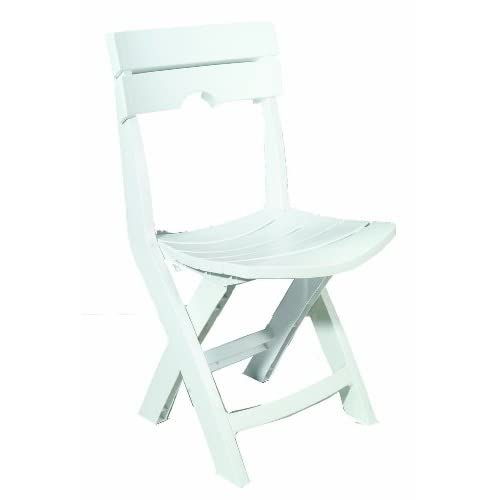Adams Manufacturing 8575-48-3700 Quik-Fold Chair, White
