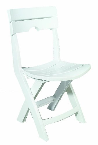 Adams Manufacturing 8575-48-3700 Quik-Fold Chair, White