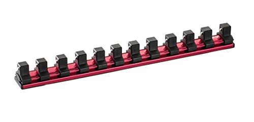 - ARES 71182   1/2-Inch Drive Magnetic Socket Organizer   Aluminum Rail Stores up to 12 Sockets and Keeps Your Tool Box Organized